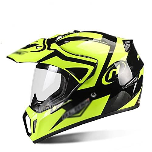 LIXIAOHONGG Motorhelmen, Full Face Motorfiets Crash Helmen,ABS Shell Racing Motorhelm Met Zonneklep Goedgekeurde…