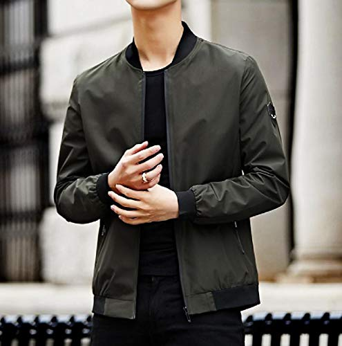 All Men's Match Casual Plus Sporty Sankt Autumn Size Wrap Jacket Fit Green Slim Army Tt4dqwA