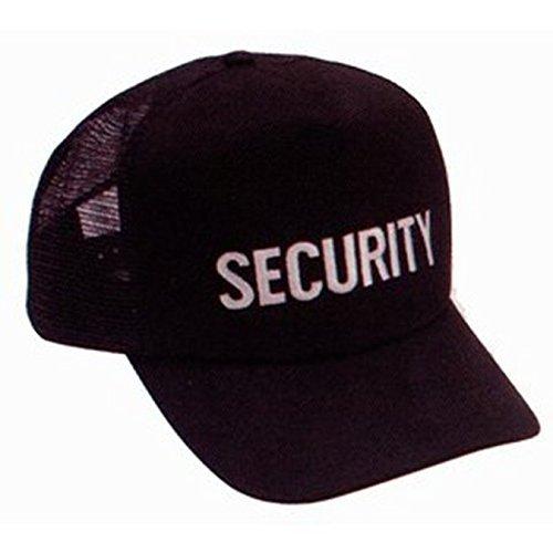 Security Guard Officer Bouncer White Black Mesh Uniform Duty Baseball Hat Cap