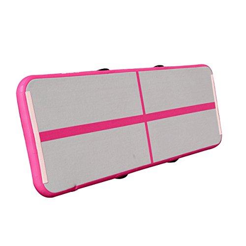 Tapis Gymnastique Gonflable, Essort Tapis de sol, Piste d'Air Gonflable pour entrainement, exercice, Yoga, peut aller sur l'eau (300cm x 50cm x 10cm)
