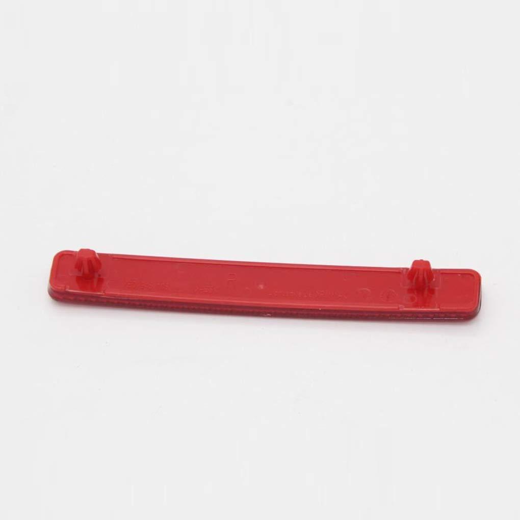 Pigupup Reemplazo de la Lente roja Trasera Ensamblaje de Reflector de Parachoques para el T5 2004-2011 7E0945105 7E0945106