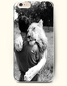 A Man And A Lion'S Hug - Love Expression - Phone Cover for Apple iPhone 6 Plus ( 5.5 inches ) - SevenArc Authentic...