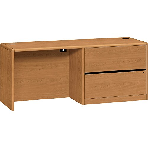 - HON Right Pedestal Credenza with 36-Inch Lateral File, 72 by 24 by 29-1/2-Inch, Harvest