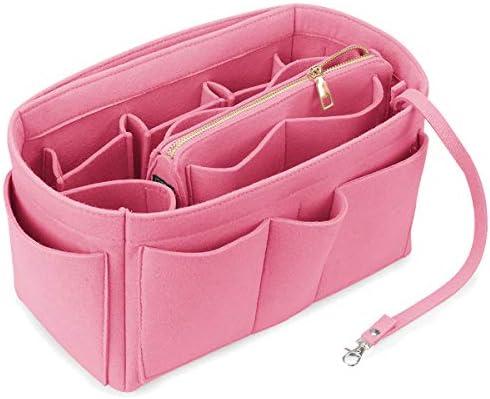 Felt Purse Organizer Insert Bag Organizer Handbag Tote Bag in Bag Fits for Speedy Insert Purse Liner