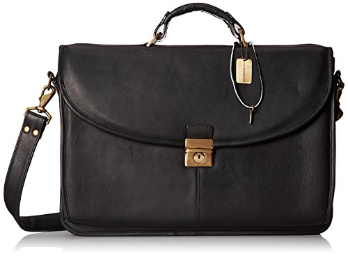Claire Chase Manhattan Laptop Leather Lawyers Briefcase in Black by ClaireChase