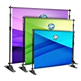 The Curbie Portable Backdrop Banner Stand Heavy Duty, Adjustable Telescopic Tube Trade Show Step Repeat Display Stand for Parties Wedding Photography Photo Booth Studio