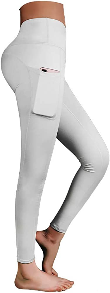 MANGO High Waist Yoga Pants,Extra Soft Leggings with Pockets,Tummy Control,Workout Running 4 Way Stretch Yoga Leggings