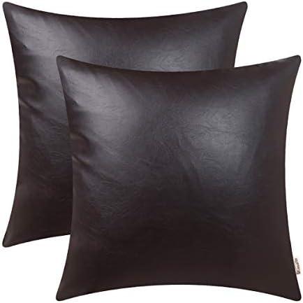 BRAWARM Pillow Leather Cushion Decoration