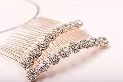 Letshopping® High-grade Alloy Diamond Tiara Comb Hair Accessories Hair Fork(2pc)