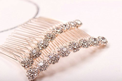 (Letshopping High-grade Alloy Diamond Tiara Comb Hair Accessories Hair Fork(2pc))