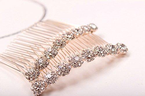 Letshopping High-grade Alloy Diamond Tiara Comb Hair Accessories Hair Fork(2pc)