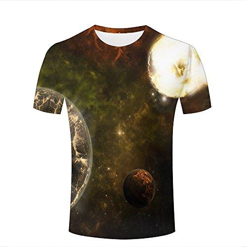 Mens 3D Printed Graphic Retro Nebula Galaxy Planets Short Sleeve T Shirts Summer Casual Cool Top Tees - Barcelona Fc Original Shirt