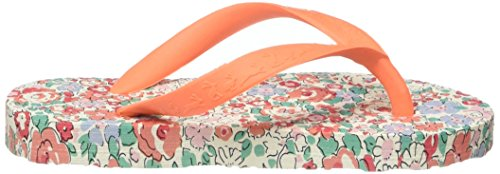 Tom Joule Mädchen Jnr Girls Flipflop Sandalen Orange (Bright Orange Ditsy)