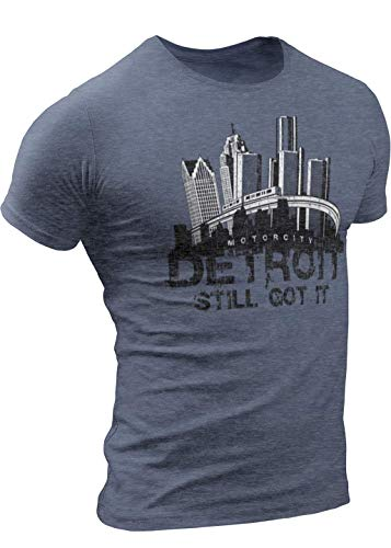 - BIG D LLC Detroit People Mover, Detroit T-Shirt XX-Large NavyGray