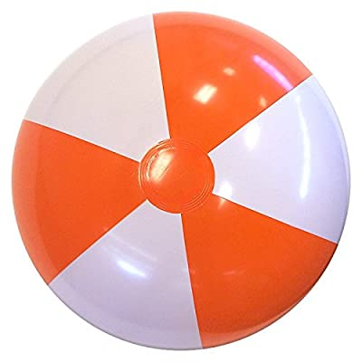 Beachballs - 24\'\' Orange & White Beach Balls: Sports & Outdoors [5Bkhe1203193]