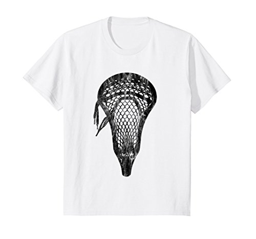 Kids Distressed Lacrosse Head Tshirt Scoop Pocket Large Image Tee 6 - Head Distressed
