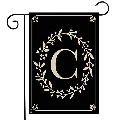 Briarwood Lane Classic Monogram Letter C Garden Flag Everyday 12.5