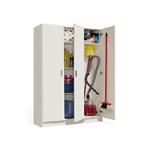 Habitdesign 007143O - Armario Multiusos Tres Puertas, Color Blanco, Dimensiones 180 x 109 x 37cm Fores MB9