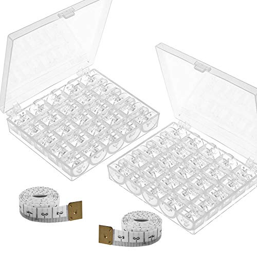 Fantastic Deal! Paxcoo 50 Pcs Sewing Machine Bobbins with Case for Brother Singer Janome Kenmore
