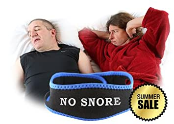 Anti Snoring Jaw Strap - No Snore Comfortable Chin Strap Secures Chin  During Sleep - Free