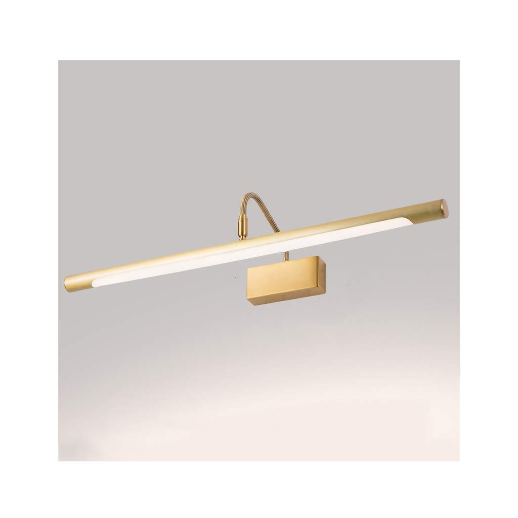 &Spiegelleuchte Spiegelfrontleuchte - Alle Kupfer Badezimmer Badezimmer Schlafzimmer Make-Up Led Spiegelleuchte (Größe   Natural light-56cm)