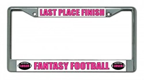 License Plates Online Last Place Finish Fantasy Football Chrome Frame