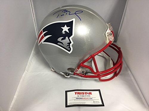Tom Brady Autographed New England Patriots Full Size Proline Authentic Helmet With Custom Game Model Helmet Decals TriStar Hologram & COA Card (Autographed Authentic Pro Line Helmet)