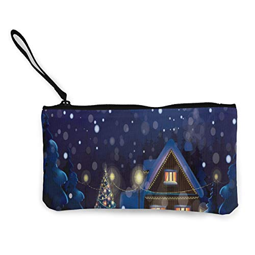 Used, Coin Purse Merry Christmas Night Men Fastener Canvas for sale  Delivered anywhere in USA