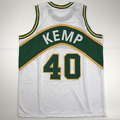 1b4ea39b8870e Unsigned Shawn Kemp Seattle White Custom Stitched Basketball Jersey ...