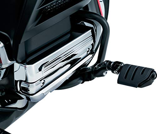 Kuryakyn 3995 Motorcycle Foot Controls: Ergo II Cruise Mounts with Trident Dually ISO Pegs and Mini Arms for Honda Gold Wing, Valkyrie Motorcycles, Gloss Black, 1 Pair ()