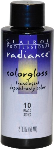 Clairol Radiance Colorgloss Semi Permanent Hair Color - #1A - Black 2 oz. (Pack of 6) by Clairol