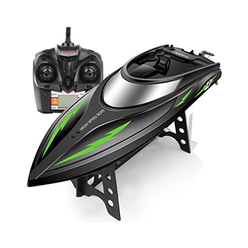 ALLCACA RC Boats 2.4Ghz Remote Control Boat 28KM/H High Speed Stunt Electric Racing Boats Toy for Kids and Adults,Black for sale