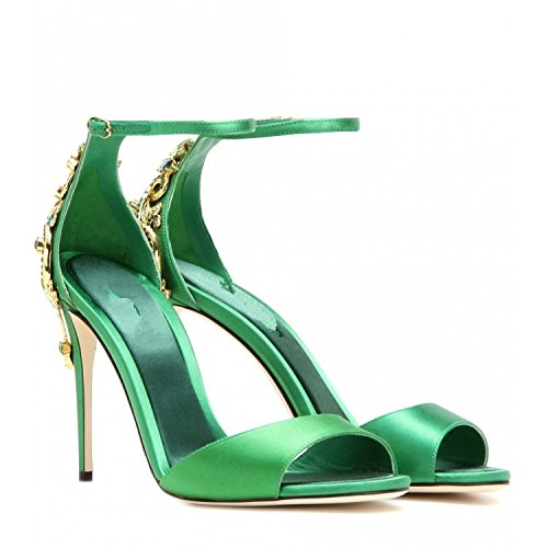 ZHUDJ Große Größe Schuhe_High Heels Mit Einem Schönen Sommer Atmosphäre Guichao Größe Sandalen Forty