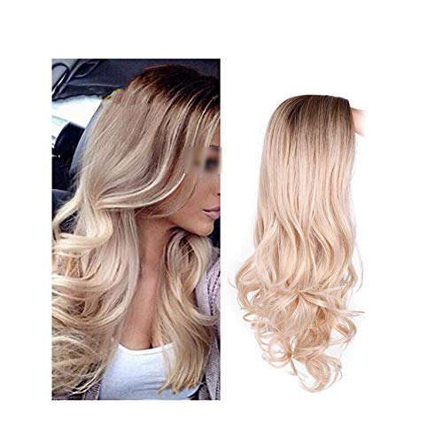 Long Brown Wavy Wig Blonde Cosplay Synthetic Wigs For Black/White Women Glueless High Density Temperature Lotus leaf fragrance,30-88,24inches