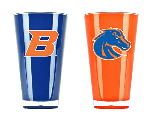NCAA Boise State Broncos 20oz Insulated Acrylic Tumbler Set of 2 by Duck House