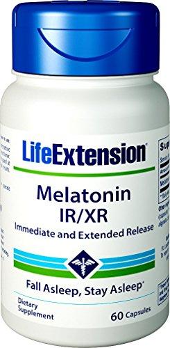 Life Extension Melatonin IR/XR, 60 Capsules