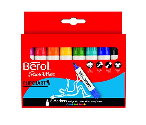 Berol Flip Chart Marker - Assorted Colours (Pack of 8)