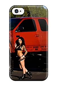Hot Design Premium LOVuEgQ7814nxoMm Tpu Case Cover Iphone 4/4s Protection Case(girls And Cars)
