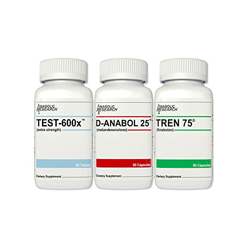 Ultimate Growth Stack - Test-600x, D-Anabol 25, Tren 75 - Gain Muscle, Strength & Size - 1 Month Supply