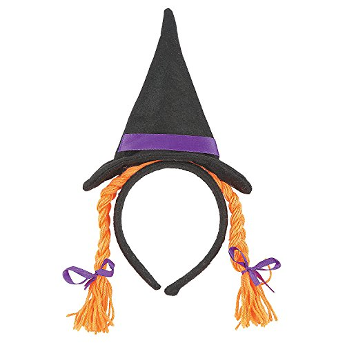 Fun Express - Child Witch Hat Headband W/Braids for Halloween - Apparel Accessories - Costume Accessories - Costume Props - Halloween - 1 -