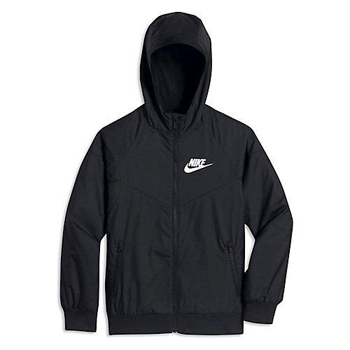 Nike Boys' B Nsw Wr Jkt Hd Hooded Jacket Black/Black/Black/White