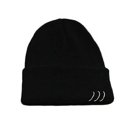 Haluoo Women s Ring Beanie Caps Slouchy Knitted Hip Hop Skull Cap Snowboard  Hats Ski Cap 6b55642bd4