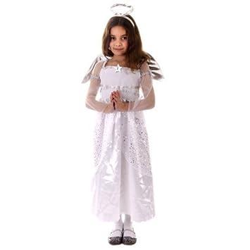 a4ba49b95835 GIRLS ANGEL COSTUME CHRISTMAS NATIVITY OUTFIT SIZE 10-11: Amazon.co ...