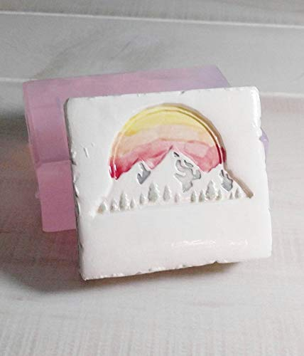 Sunset and Mountains Clear Transparent View Silicone Mold for Soap, Candles, Chocolate, etc. from Laurel Arts