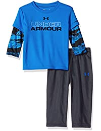 Under Armour Baby Boys' Ua Cracked Slider Tee and Pant Set