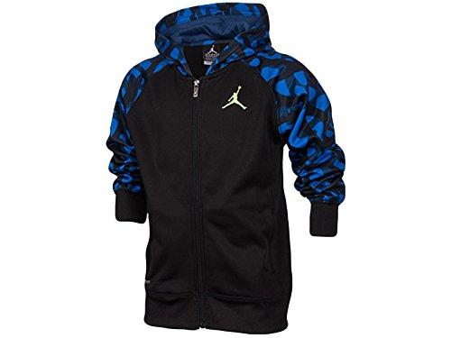 Nike Jordan Big Boys AJ Camo Full-Zip Hoodie Black/Blue 952933-273 (M)