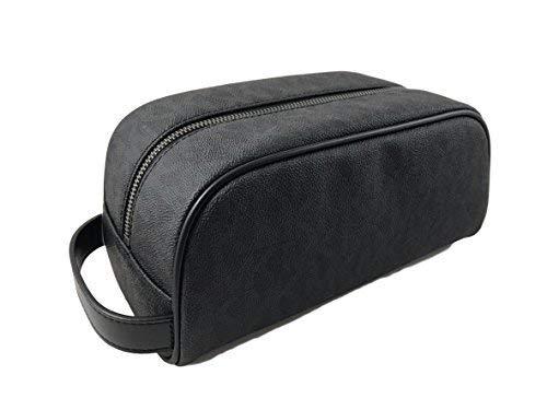 Michael Kors Jet Set Item Signature PVC Black Toiletry Holder (Michael Kors Cosmetic Bag)