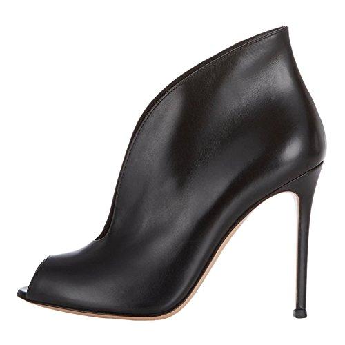 MERUMOTE - Zapatos de vestir para mujer Black-Matte
