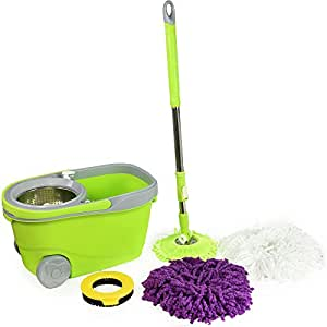 Amazon Com Green Direct Spin Mop And Bucket Deluxe