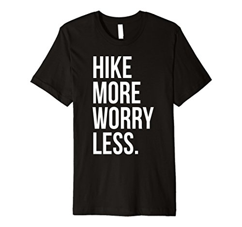 Hike More Worry Less T-Shirt Mountain Adventure Wanderlust -